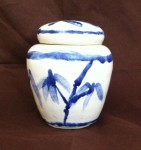 If you could see this picture, it would be a jar I made many years ago. It has bamboo on it that kind of sucks.